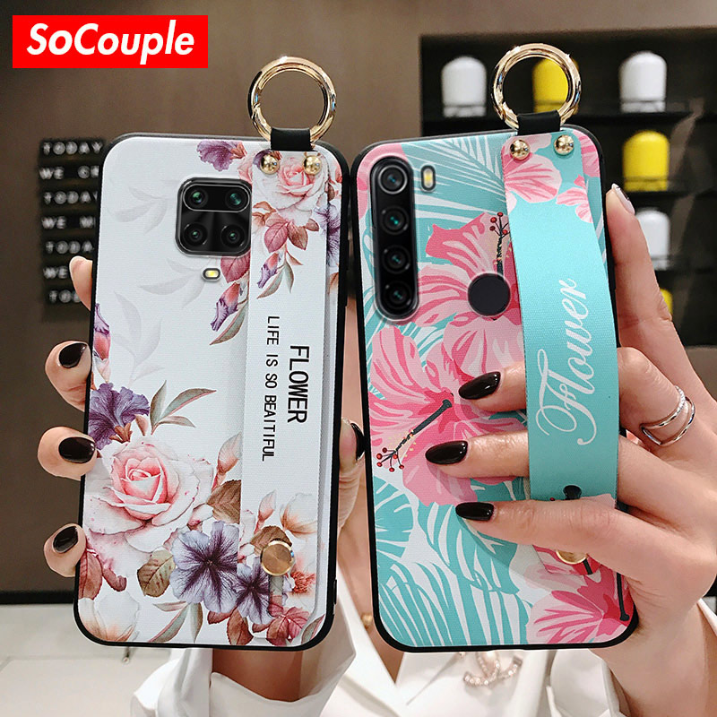 SoCouple Wrist Strap Case For Redmi Note 8 Pro 5 6 7 9 Pro 9S K20 Pro Case For Xiaomi 8 9 CC9 A3 9 Lite 9t TPU Phone Holder Case(China)