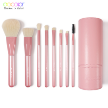 Brochas de maquillaje Docolor Professional 8 uds, brocha de maquillaje, base, sombra de ojos, rubor, mezcla de maquillaje, juego de brochas con soporte para brochas