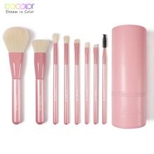 Docolor Makeup Brushes Professional 8pcs Make up brush Foundation Eyeshadow Blush Blending Makeup Brushes Set With brush holder