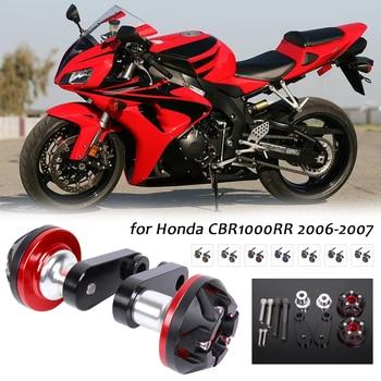 Almohadillas de tope para motocicleta, Protector de marco para motor CNC para HONDA CBR1000RR CBR 1000RR CBR 1000 RR 2006 2007 negro