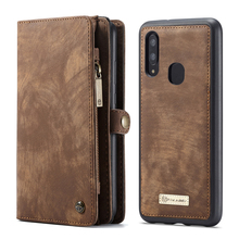 Vintage Leather Wallet Case For Samsung Galaxy A70 Detachable Card Slot Magnetic Cover A50
