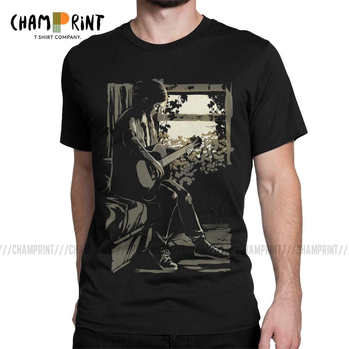 Men's T-Shirt The Last Of Us Part II 2 Ellie Vintage Pure Cotton Tee Shirt Short Sleeve T Shirt Round Neck Clothing Gift Idea
