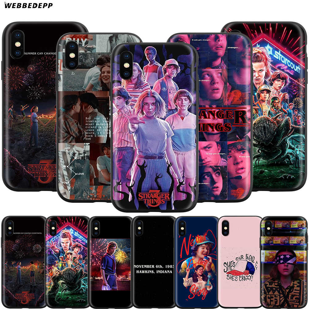 Webbedepp stranger things Case dla Apple iPhone 11 Pro XS Max XR X 8 7 6 6S Plus 5 5S SE