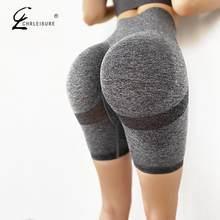 Pantalones cortos de realce para mujer, Shorts ajustados de cintura alta, elásticos, para entrenamiento