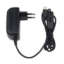 цена на 5V 3A Power Supply Charger AC Adapter Micro USB Cable with Power On/Off Switch For Raspberry Pi 3 pi pro Model B B+ Plus