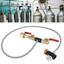 G1/2 CO2 Cilindro di Ricarica Adattatore con il Tubo Flessibile per il Riempimento di Bottiglia Cilindro Serbatoio di Aria Co2 Riempito Adattatore Inflazione