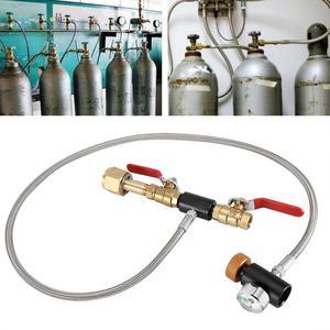 Image 1 - G1/2 CO2 Cilindro di Ricarica Adattatore con il Tubo Flessibile per il Riempimento di Bottiglia Cilindro Serbatoio di Aria Co2 Riempito Adattatore Inflazione