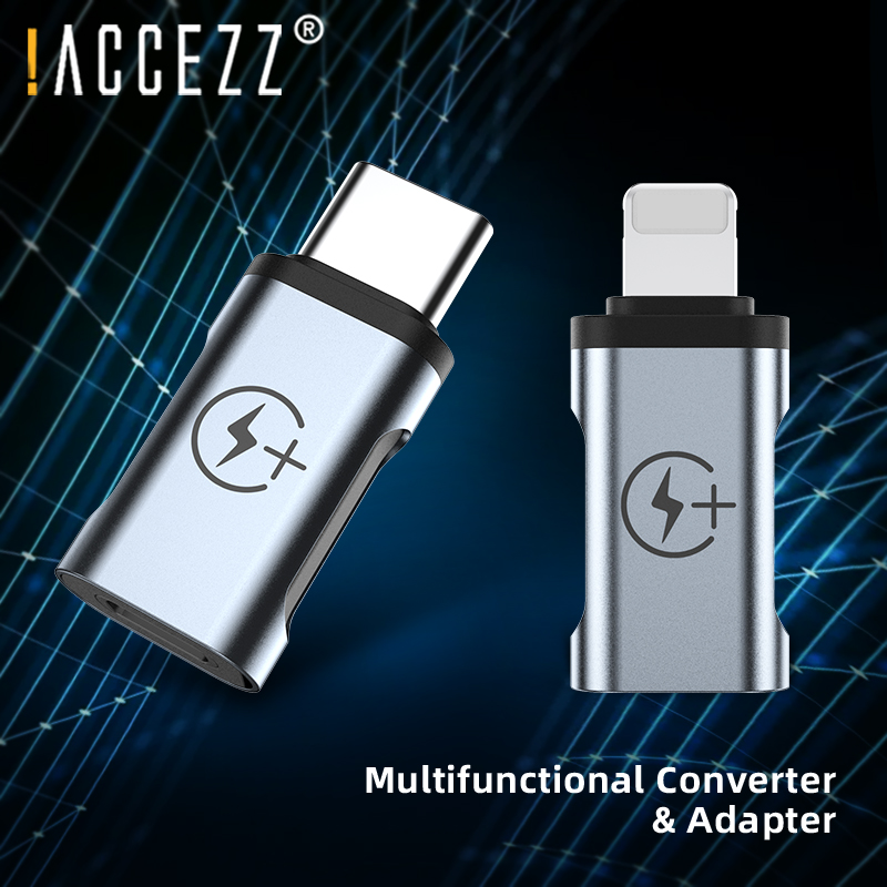 !ACCEZZ OTG Adapter Lighting Male To Type-C For IPhone 11 Pro Max USB C Male Connector For Samsung S8 S9 Charging Data Converter