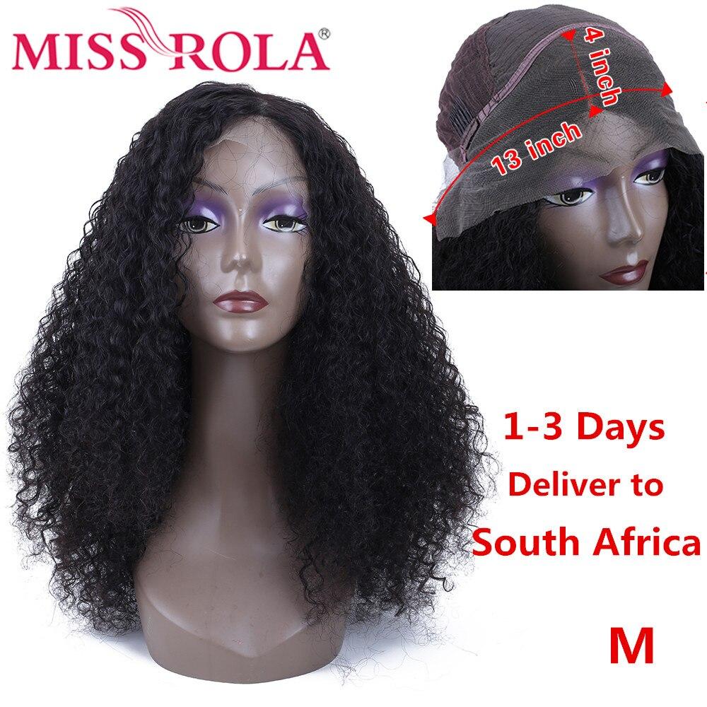 MISS ROLA 13*4 парики из натуральных волос на кружеве 150% плотность кудрявые вьющиеся человеческие волосы парики для черных женщин remy волосы парик