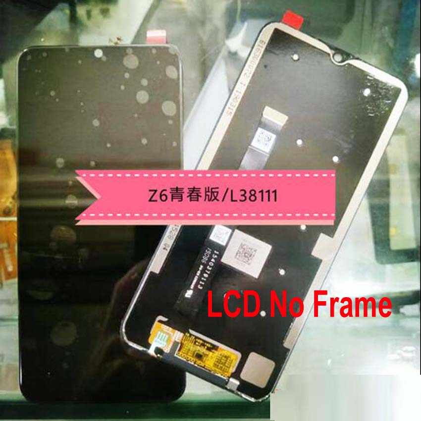 100% Chính Hãng Tốt Nhất Đen Full Màn Hình Hiển Thị LCD Bộ Số Hóa Cảm Ứng Cảm Biến + Khung Cho Lenovo Z6 Lite L38111 Kính bảng Điều Khiển