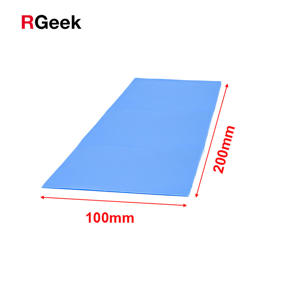 High quality 6.0 W/mK 100*200mm Thermal conductivity CPU Heatsink Cooling Conductive Silicone Pad Thermal Pads 1