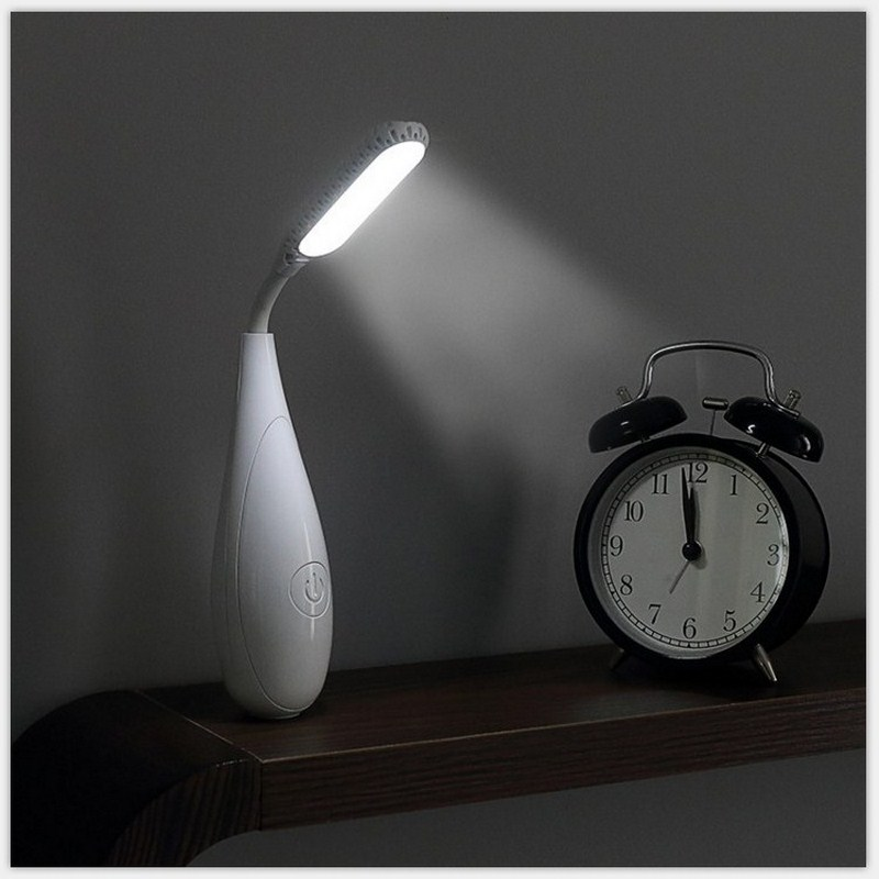Portable Tumbler Table Lamp USB Rechargeable Night Light Eye Protection Bedside Book Reading Study Office Night Light