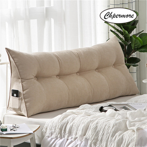 Image 1 - Chpermore High grade Luxury Simple bed cushion double sofa Tatami Bed soft bag Removable Bed pillow For Sleeping