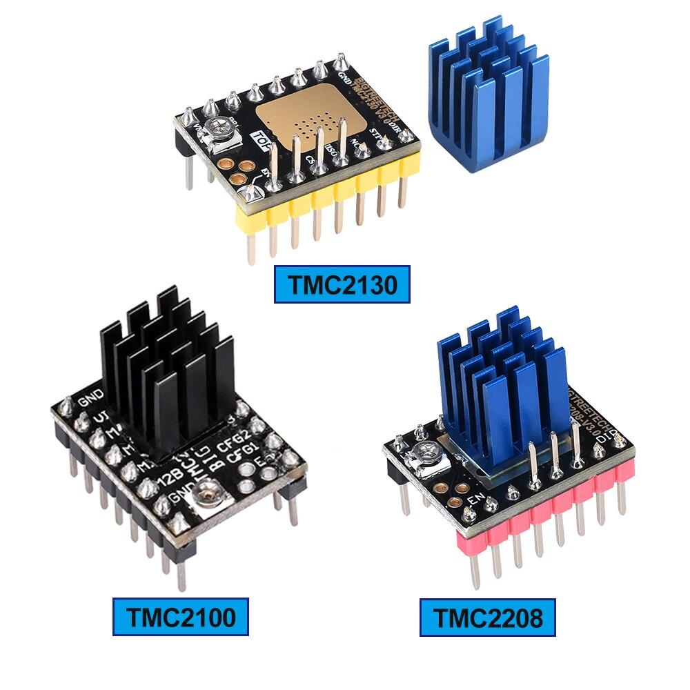 Stepper Motor Driver TMC2208 TMC2130/TMC2100 Reprap Driver Silencioso Mudo A4988 Drv8825 MKS GEN V1.4 SKR placa 3D Impressora partes