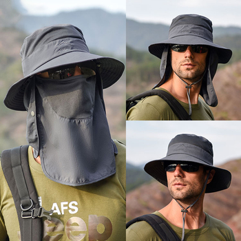 K33 Sun Hat For Man Sunhat Summer Outdoor Quick-drying Sunscreen Fisherman Fishing Breathable hats Female Face Mask - discount item  20% OFF Hats & Caps