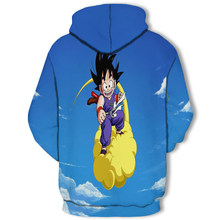 Plus récent Anime Dragon Ball sweat à capuche Cosplay 3d Super Saiyan Dragon Ball Z Dbz Son Goku poche sweats à capuche sweat à capuche pour homme/femmes(China)
