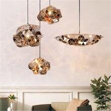 Роскошный подвесной светильник в стиле пост модерн из нержавеющей