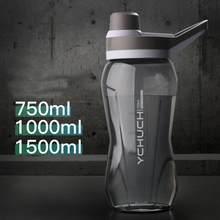 750/1000/1500 ml grande garrafa de água esportes garrafa de água à prova de vazamento de plástico portátil garrafa de água para acampar drinkware botella agua 15