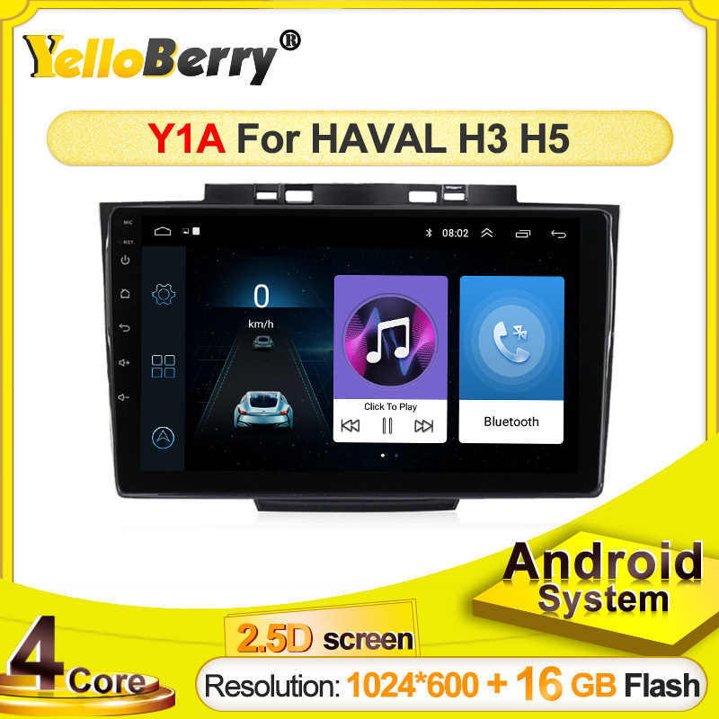 Yellowberry 2 Din Android Auto Radio Multimedia Video Player Navigatie Gps Voor Nieuwe Grote Muur Haval Hover H3 H5 2013 auto Audio