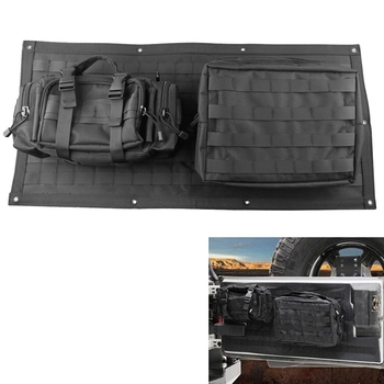 Tailgate Bag Case Cover for 2007-2017 Je-ep Wrangler JK TJ 4/2 Doors Tool Organizer Pockets Storage Organizer Bags Car Interior