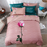 Rose flower bedding set bohemia style bed linens Chinese knot duvet cover+ flat sheet+Pillowcase 4pcs twin queen king bed set