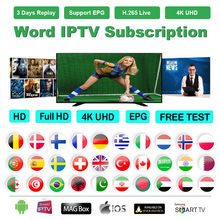 IPTV Subscription for IPTV French Arabic UK Dutch Spain 18+ Adult 8000+ Live 6000+ VOD 4K qhdtv IPTV M3U Smart TV Full HD(China)