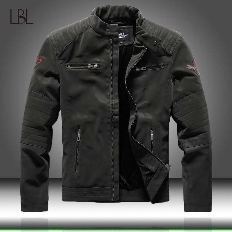 Winter Mens Bomber Jassen Casual Militaire Mannelijke Uitloper Fleece Dikke Warme Windjack Mens Pu Leather Baseball Jassen