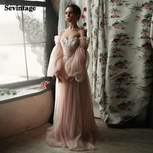 Мятые Тюль пляжное свадебное платье Длинное Пышное Платье принцессы