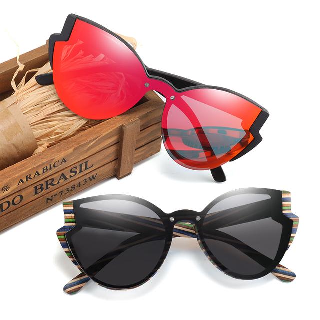 Women's Handmade Wooden Butterfly Sunglasses