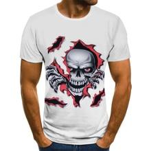 Men's T-Shirt Skull-Pattern Reaper Fashion Summer O-Neck O-Neck-Top-Large-Size Creative