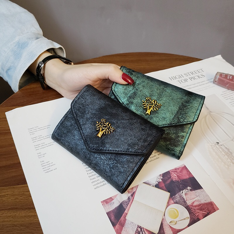 Women's Wallet Short Female Bag 2020 New Fashion Luxury Cash Holder Card Clutch Money Pocket Casual Vintage
