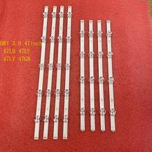 8 pz/set striscia di Retroilluminazione A LED per LG 47LB6500 47LB5700 47LB580V 47LB5800 47LB572V 47LB570V 47LB6300 47LB5500 47LF5800 47LB585V
