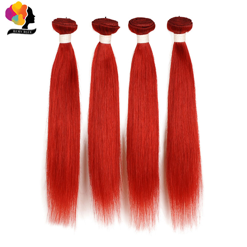 Remyblue bordowy wiązki malezyjskie proste włosy 4 wiązki czerwony 99J ludzkiego włosa rozszerzenie splot 100 Remy włosy wątek grube i nie ma szopy w Warkocze od Przedłużanie włosów i peruki na AliExpress - 11.11_Double 11Singles' Day 1