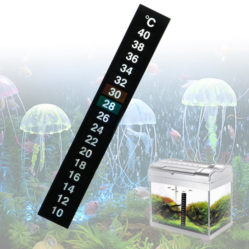 1/3/5pcs /lot Stick-on Digital Aquarium Fish Tank Fridge Thermometer Sticker Temperature Temp Measurement Stickers Tools