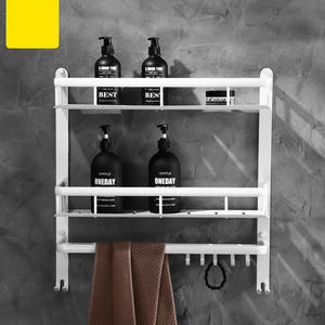 Bathroom Shelves Hardware-Set Corner-Shelf Shower-Rack Wall-Hanging-Storage Nordic-Space