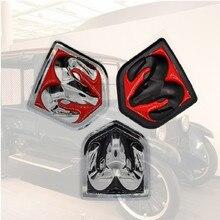 3D voiture tête Grill hayon 3D autocollants métal emblème réaménagement métal Chrome Badge emblème autocollant Ram tête pour Dodge Ram calibre voiture autocollant de voiture