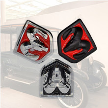 цена на Instagram 3D Sticker Car Head Grill Tailgate challenger Emblem Refitting Chrome Badge Emblem Sticker Ram head For Dodge Ram 1500