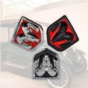 Image 1 - Instagram 3D Sticker Car Head Grill Tailgate challenger Emblem Refitting Chrome Badge Emblem Sticker Ram head For Dodge Ram 1500