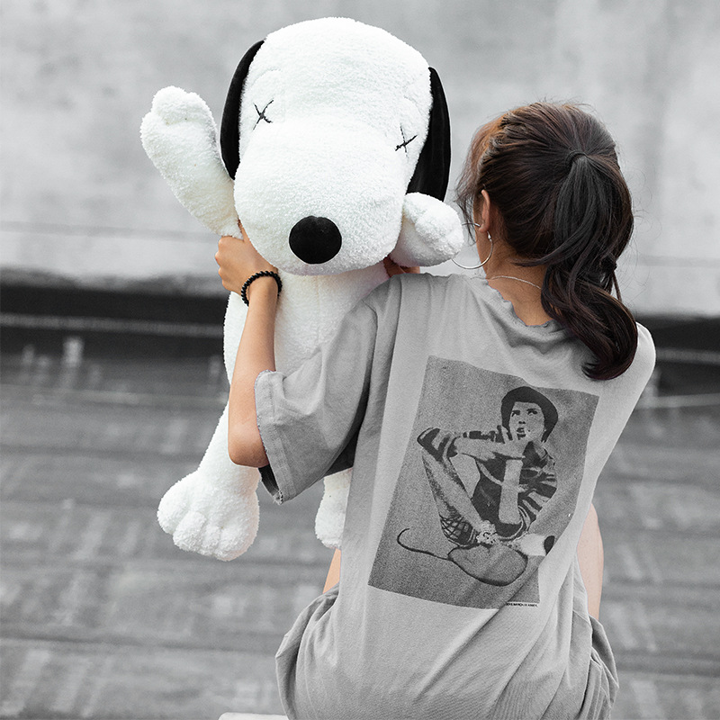 45-75cm Lovely Cartoon Snoopy Plush Doll Toys Kawaii Large Doll Dog Stuffed Plush Toy Animals Valentine's Day Birthday Gift