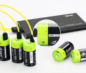 ZNTER 3000mAh 1,5 V перезаряжаемая батарея C размер USB перезаряжаемая литий-полимерная батарея с микро USB кабелем для быстрой зарядки