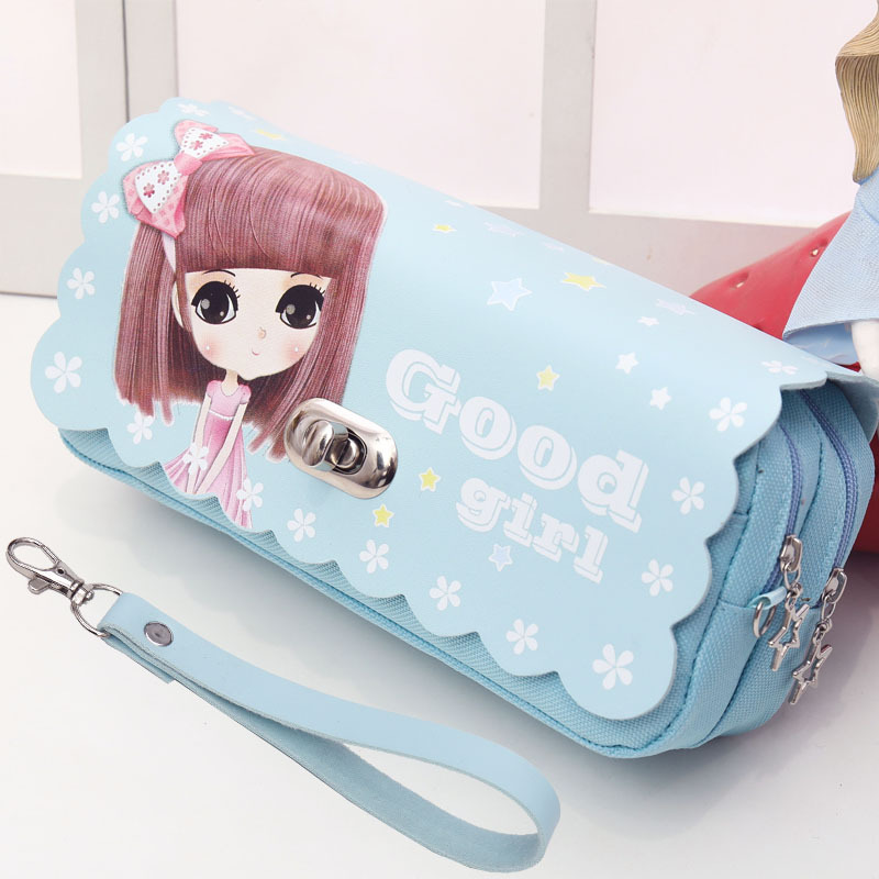 Pencil Case Students Pencil Bag Large Capacity Kawaii Pencil Pouch Cartoon Stationary Pencil Case For Girls School Dropshipping
