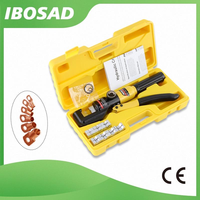 Гидравлический обжимной инструмент, Гидравлические Обжимные Щипцы, гидравлический компрессионный инструмент, диапазон 4-70 мм2, давление 6T