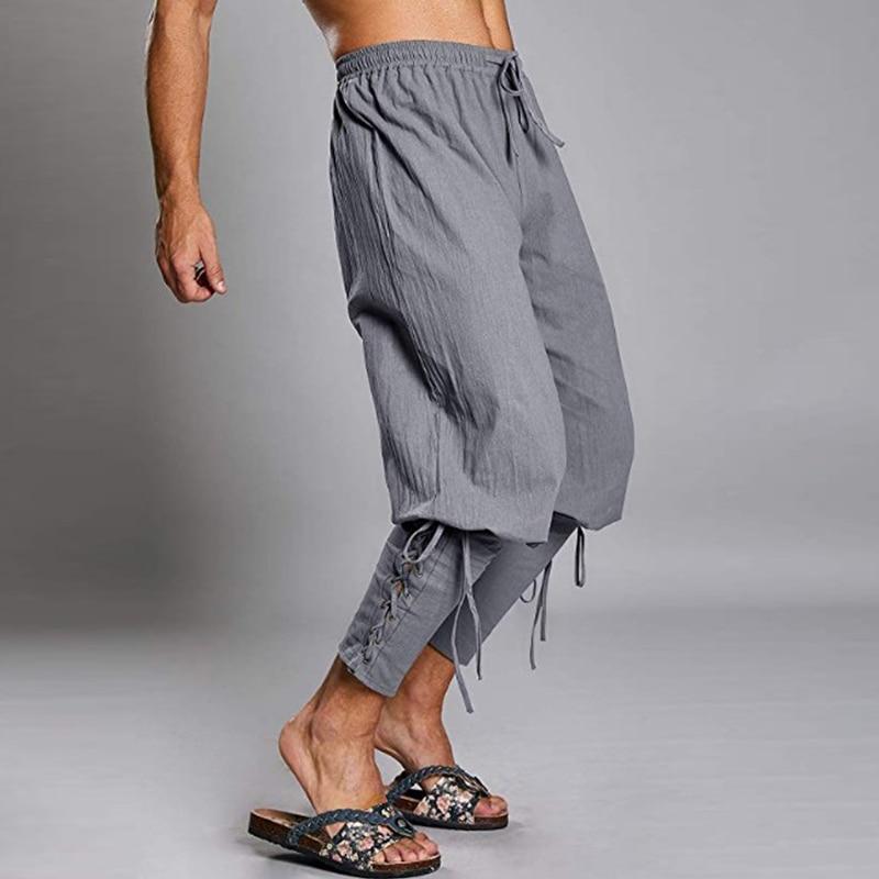 Aolamegs Men Pants Hip Hop Solid Color Harem Pants Male Elastic Waist Trousers Simple Casual Drawstring All-match Sweatpants
