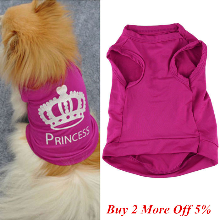 1pc Pet <font><b>Dog</b></font> Cat Sweet Cute Princess <font><b>Dresses</b></font> Puppy <font><b>Dog</b></font> Clothes Summer Puggy Coat Costumes <font><b>Dog</b></font> Tshirt Chaleco Perro <font><b>Dog</b></font> Clothes image