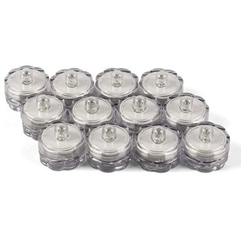 12PC Waterproof Electric Candle Simulation Flameless Solar Powered LED Light Electronic Tea Candles Flame