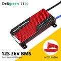 Deligreen 12S 100A 150A 200A 43 8 V BMS для Li-FePO4 18650 Аккумулятор для скутера литиевая батарея