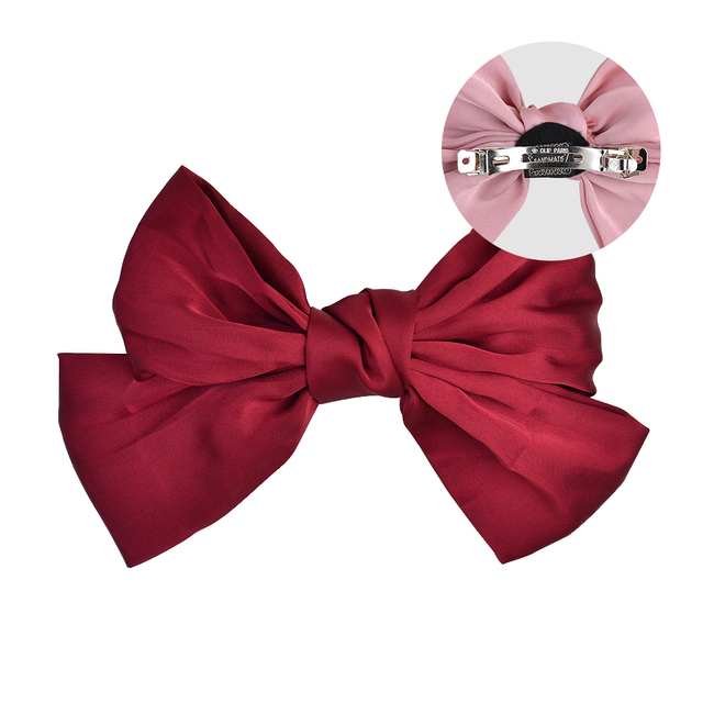 Korean Big Hair Bow Ties Hair Clips Satin Two Layer Butterfly Bow For Women Bowknot Hairpins Trendy Headwear Hair Accessorie 166