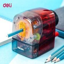 Artigos de papelaria deli 71152 apontador de lápis giratório casa escritório escola suprimentos para 6.5 8mm lápis diâmetro