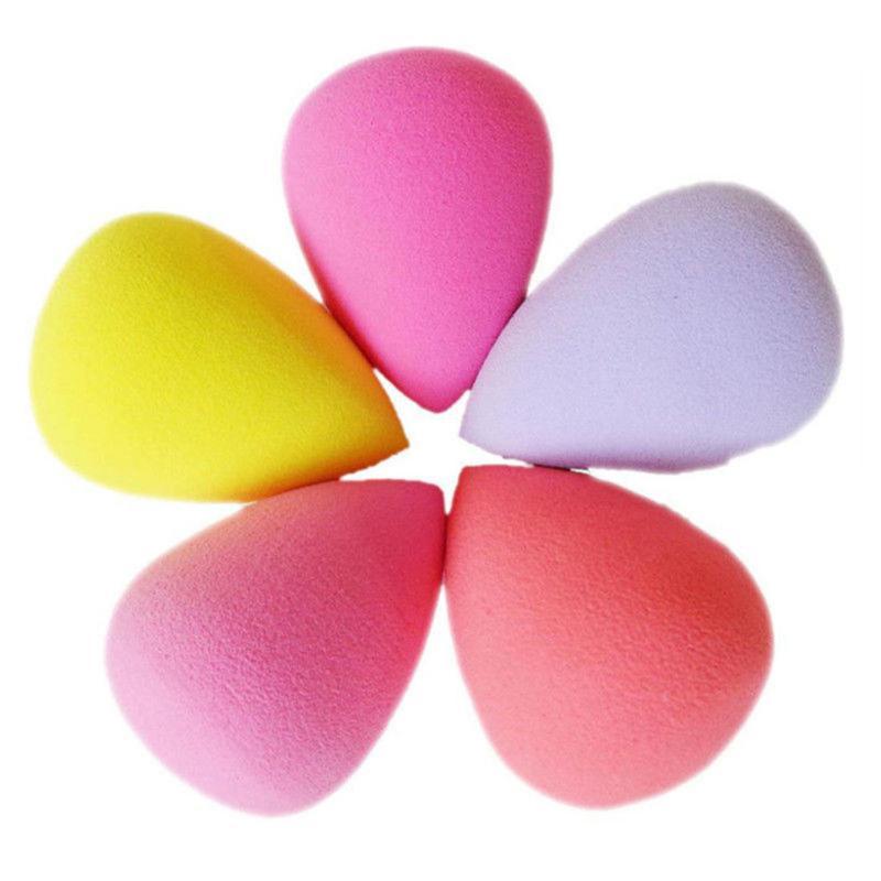 1 Pcs Professional Makeup Puff Drop-shaped/Gourd-shaped Sponge Puff Foundation Concealer Cosmetic Puff  Random Color TSLM1