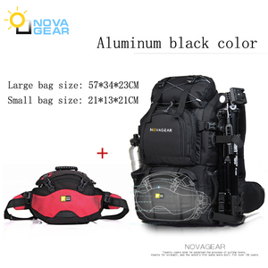 Image 5 - NOVAGEAR 80302  double shoulder camera bag waterproof shockproof outdoor large capacity SLR camera bag put 17 inch laptop